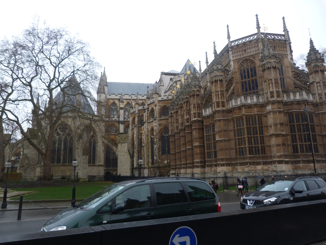 3 - Henry III's thirteenth-century Chapter House (left) and Henry VII's early sixteenth-century Lady Chapel (right).JPG