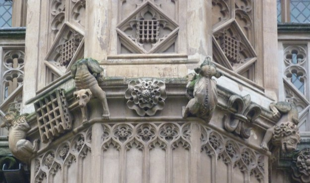 5 - Wonderful grotesques on Henry VII's early sixteenth-century Lady Chapel  .JPG