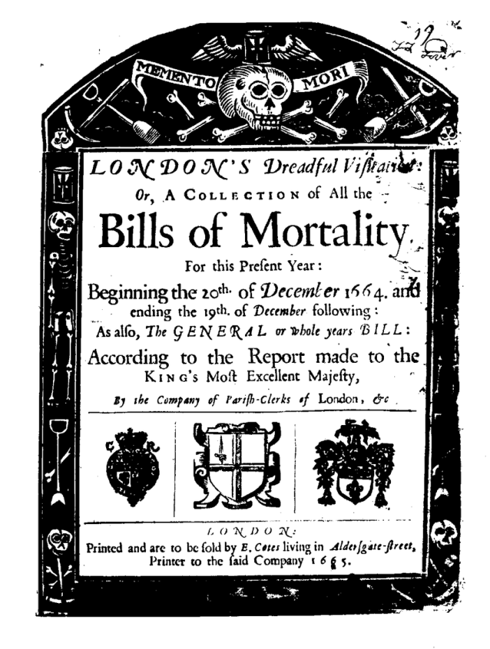 a-The-title-page-of-a-1665-compilation-of-the-Bills-of-Mortality