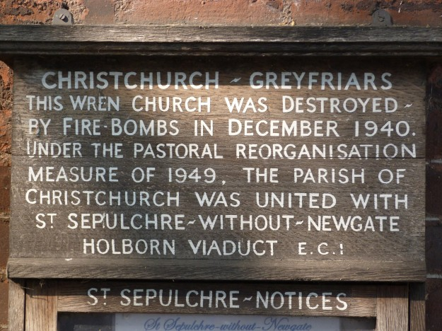 Old Christ Church informative plaque 2