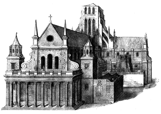Old_St._Paul's_Cathedral_from_the_west_-_Project_Gutenberg_eText_16531