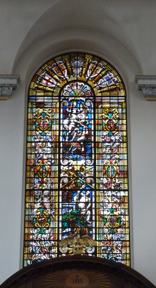 St Vedast painted glass window