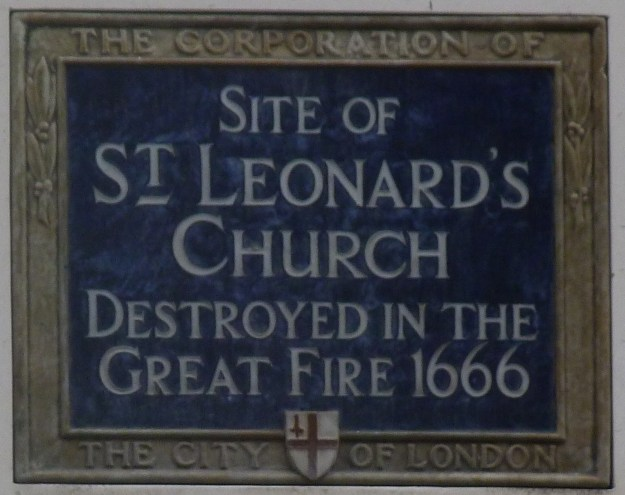 St Leonard Foster Lane