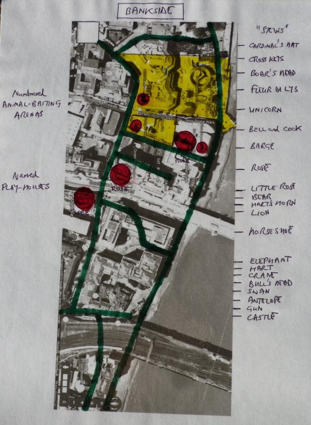 Stews, animal-baiting arenas and playhouses of Bankside